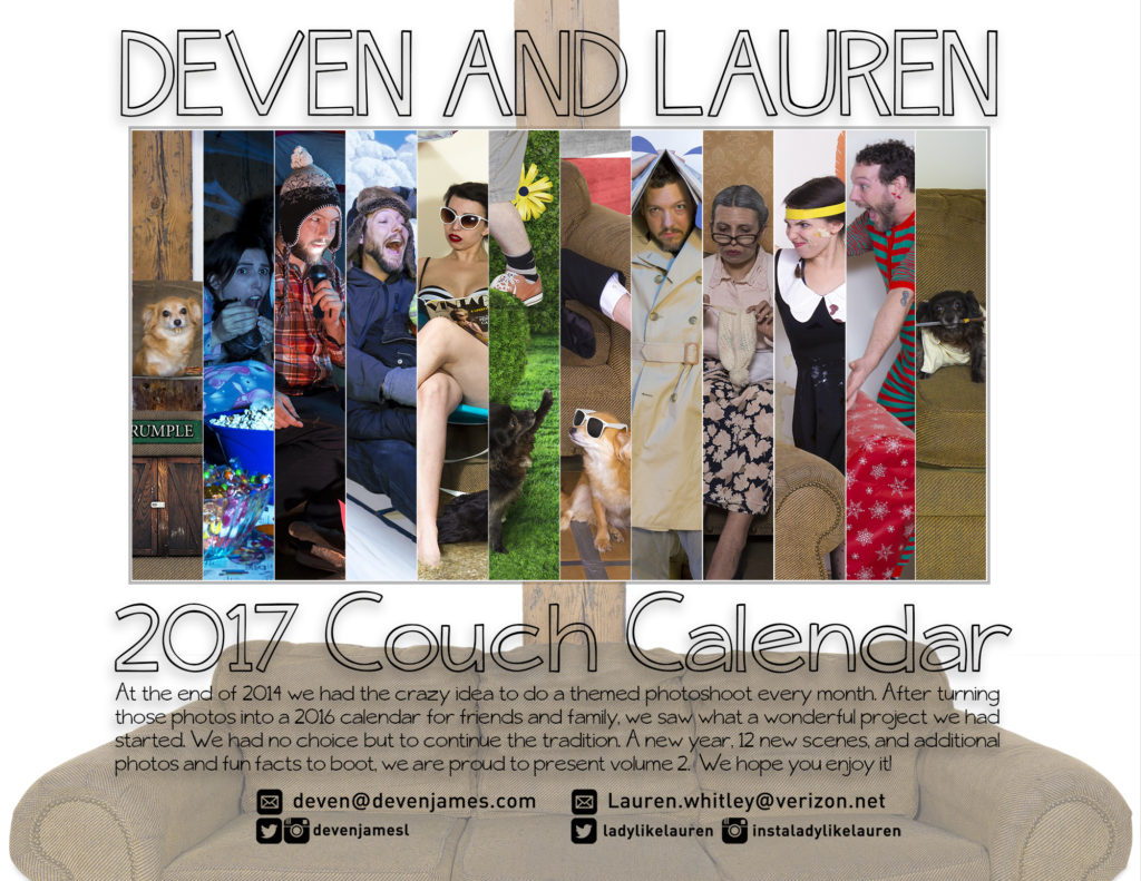 deven langston lauren whitley couch calendar 2017